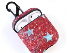 Bling PU Leather Airepods Case